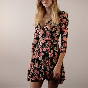 Forever 21 Size Small Floral Wrap Dress
